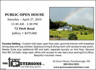 Public Open House Apr 27