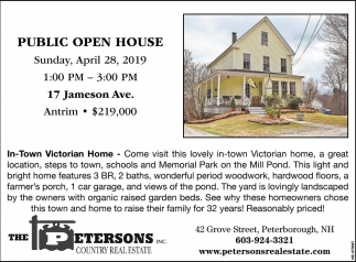 Open House! 17 Jameson Ave