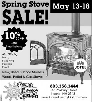 Spring Stove Sale!