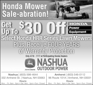 Honda Mower Sale-abration!