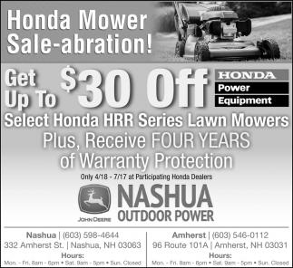 Honda Mower Sale-abration!