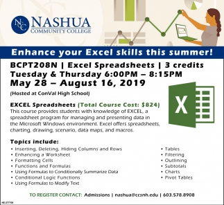 Enhance Your Excel Skills This Summer!