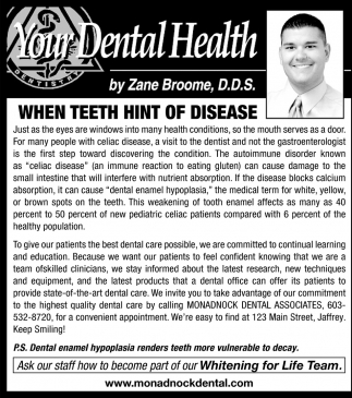 When Teeth Hint Of Disease