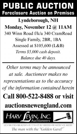 Public Auctions Near Me >> Public Auction Harv Leving Inc Auctioneers