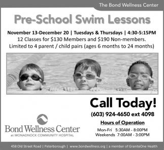 Pre-School Swim Lessons