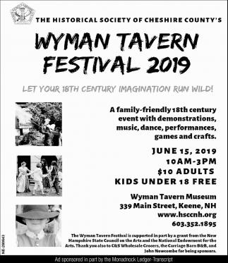 Wyman Tavern Festival 2019