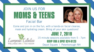 Join Us For Moms & Teens Facial Bar