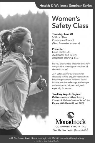 Women's Safety Class