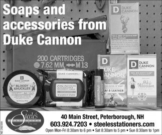 Soaps And Accessories From Duke Cannon