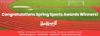 Congratulations Spring Sports Awards Winners!