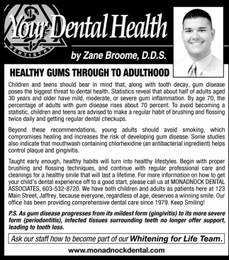 Healthy Gums Through To Adulthood