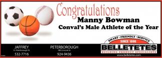Congratulations Manny Bowman