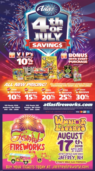 Atlas 4th Of July Savings