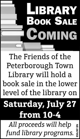 Library Book Sale Coming