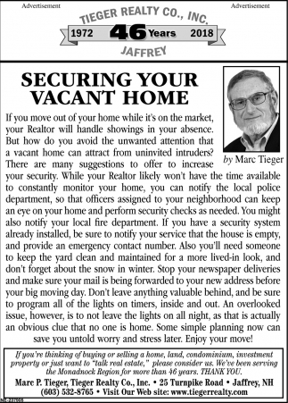 Securing Your Vacant Home