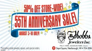 50% Off Store-Wide 55th Anniversary Sale!