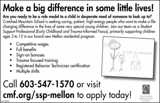 Make A Big Difference In Some Little Lives!