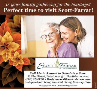 Perfect Time To Visit Scott-Farrar!