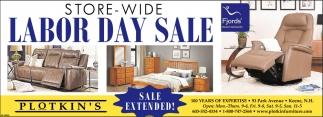 Store-Wide Labor Day Sale