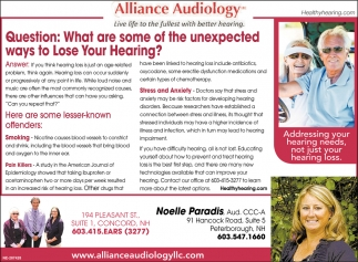 What Are Some Of The Unexpected Ways To Lose Your Hearing?