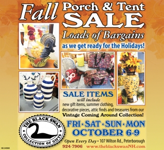 Fall Porch & Tent Sale