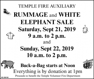 Rummage And White Elephant Sale