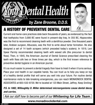 A History Of Preventive Dental Care