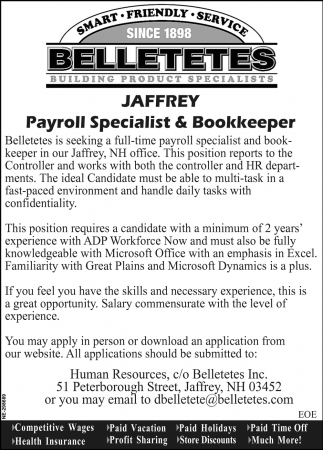 Payroll Specialist & Bookkeeper