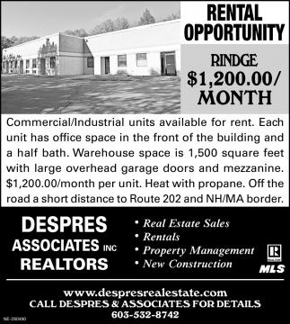 Rental Opportunity