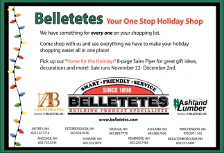 Your One Stop For Holiday Belletetes Building Product Specialist Jaffrey Nh