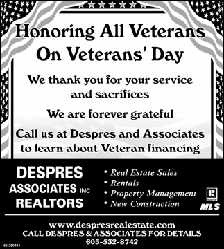 Honoring All Veterans On Veterans' Day