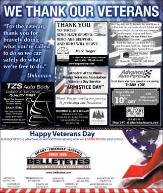 We Thank Our Veterans