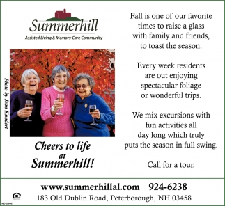 Cheers To Life Of Summerhill!