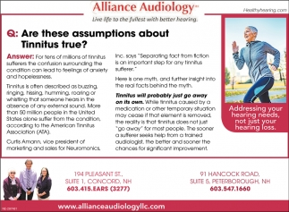 Are These Assumptions About Tinnitus True?