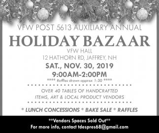Auxiliary Annual Holiday Bazaar