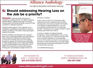 Addressing Hearing Loss On The Job