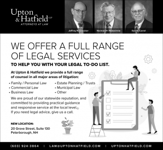 We Offer A Full Range Of Legal Services