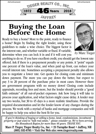 Buying The Loan Before The Home