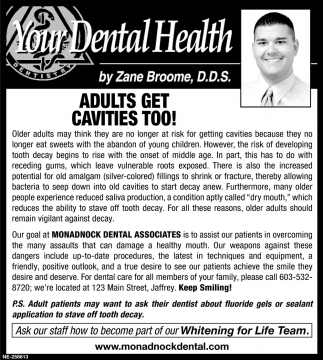 Adults Get Cavities Too!