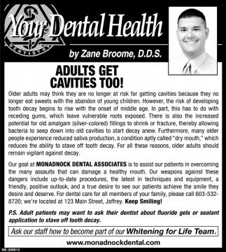 Adults Get Cavities Too!
