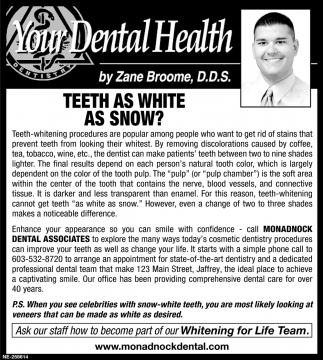 Teeth As White As Snow?