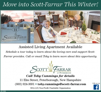 Move Into Scott-Farrar This Winter!
