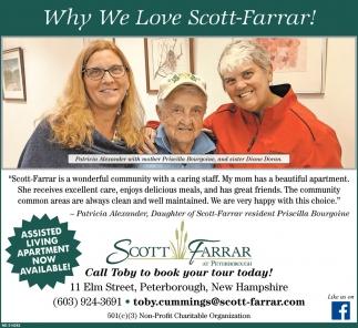 Why We Love Scott-Farrar!