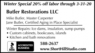 Winter Special 20% Off Labor