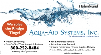 Aqua-Aid Systems