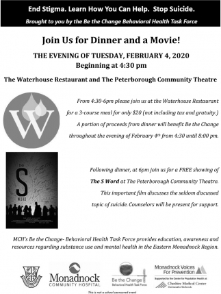 Join Us For Dinner And Movie!