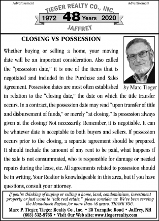 Closing Vs Possession