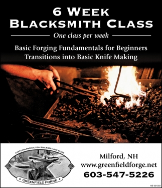 6 Week Blacksmith Class