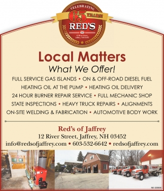 Local Matters What We Offer!