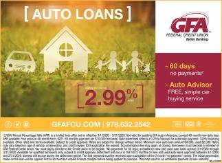 Auto Loans 2.99%